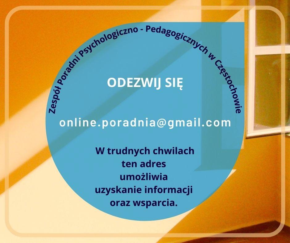 Adres e-mail Poradni online